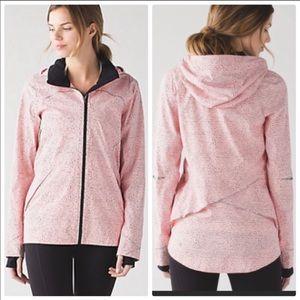 Lululemon Runaway Jacket Speckled Dot Pink Black